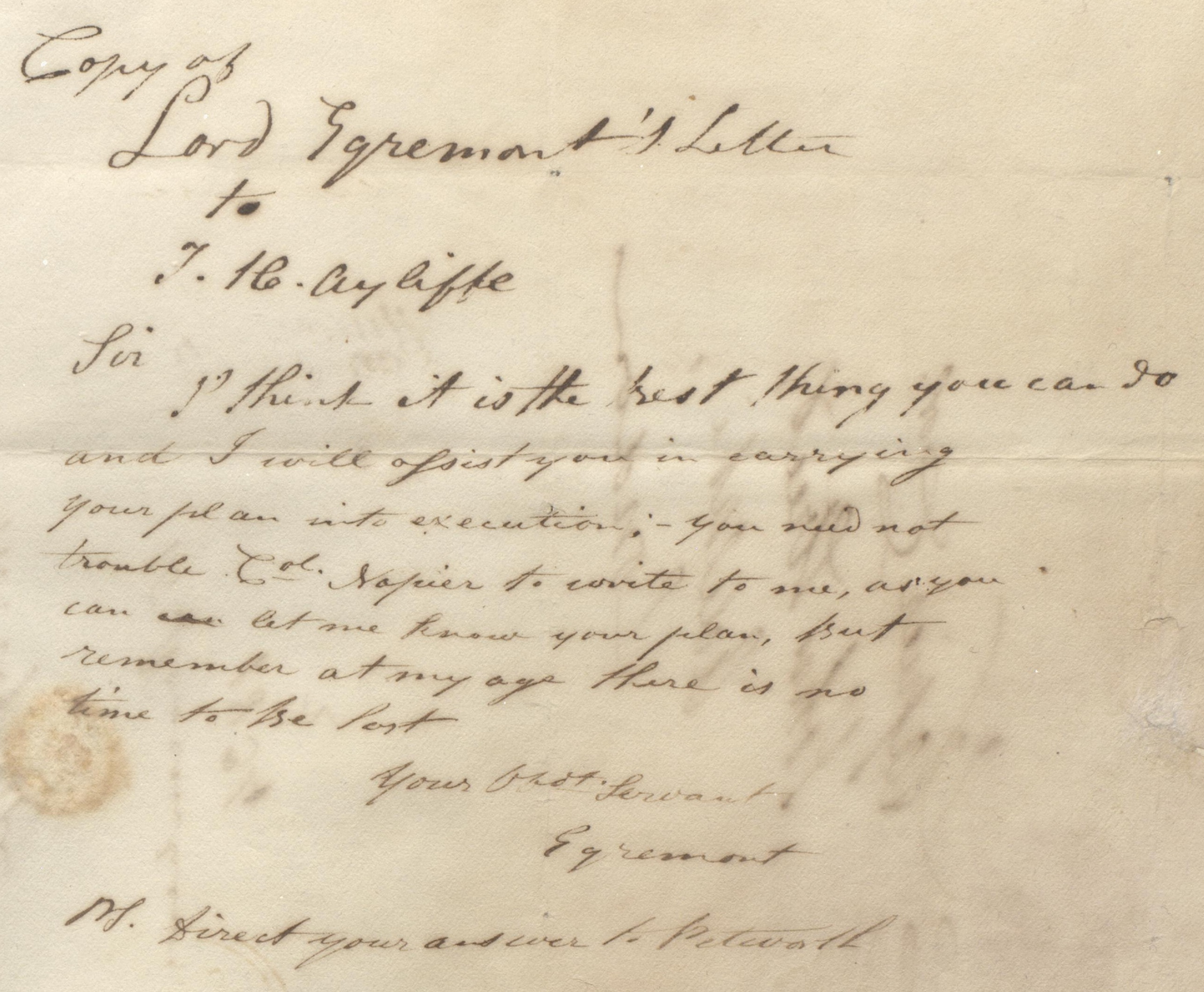 lord-egremont-letter